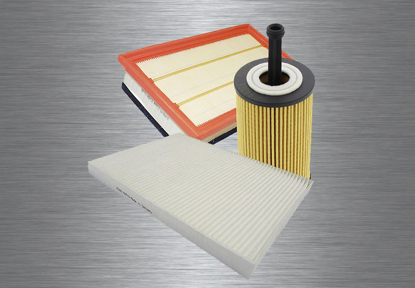 Air, oil, fuel and cabin filters