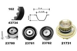 MAPCO 41739/1 Water Pump & Timing Belt Kit
