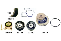 MAPCO 41735/1 Water Pump & Timing Belt Kit