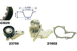 MAPCO 41629 Water Pump & Timing Belt Kit