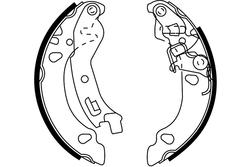 MAPCO 8035 Brake Shoe Set