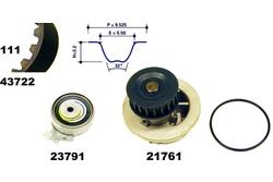 MAPCO 41722 Water Pump & Timing Belt Kit